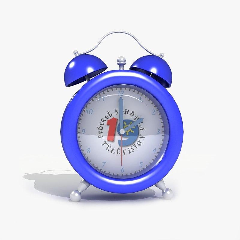 table alarm clock 3d model
