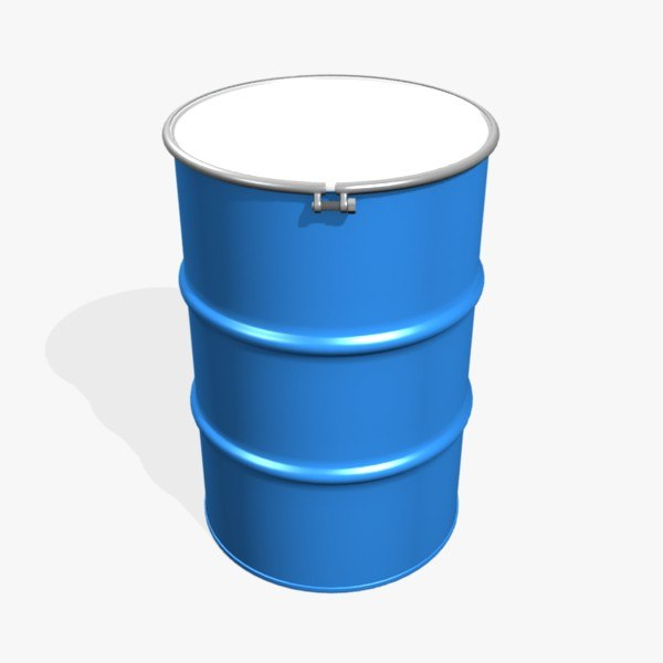3d open 55 gallon drum