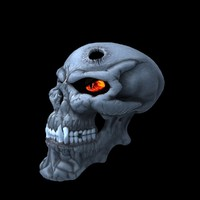 3d fbx skull