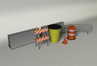barricades 3d c4d
