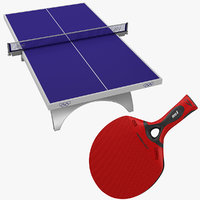 Table Tennis Equipment Collection