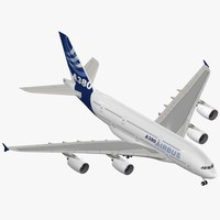 airbus a380-800 house colors 3d max