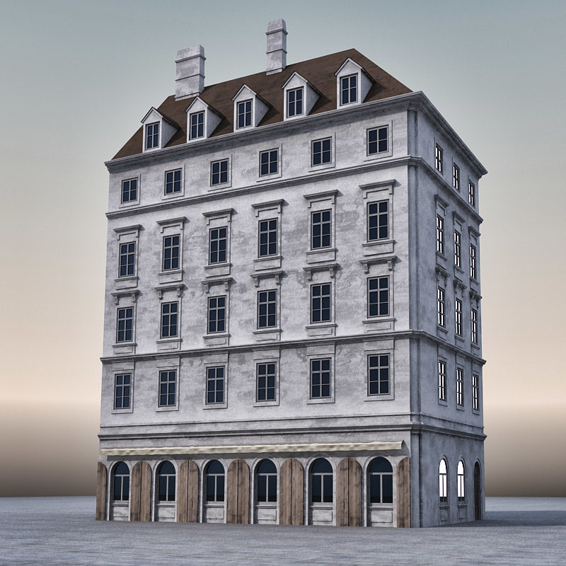 3d Model House Building Residential: 3d Building European Europe