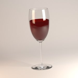 3d model alcoholic drink red