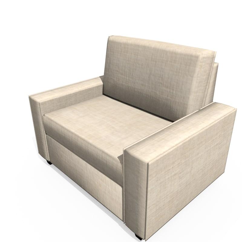 3d model contemporary armchair