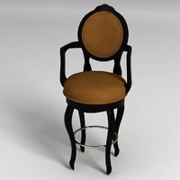 3d max luxury bar stool