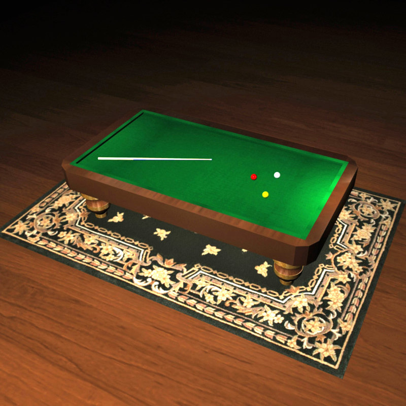 billiard table 3d model