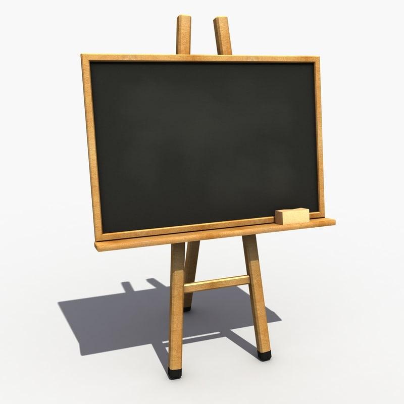 3d blackboard modeled
