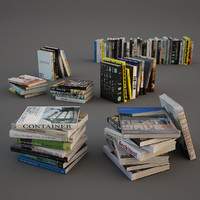 3d realistic books model