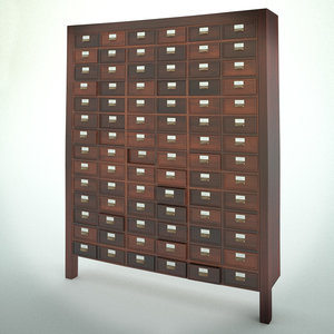 old wooden chest drawers 3d model