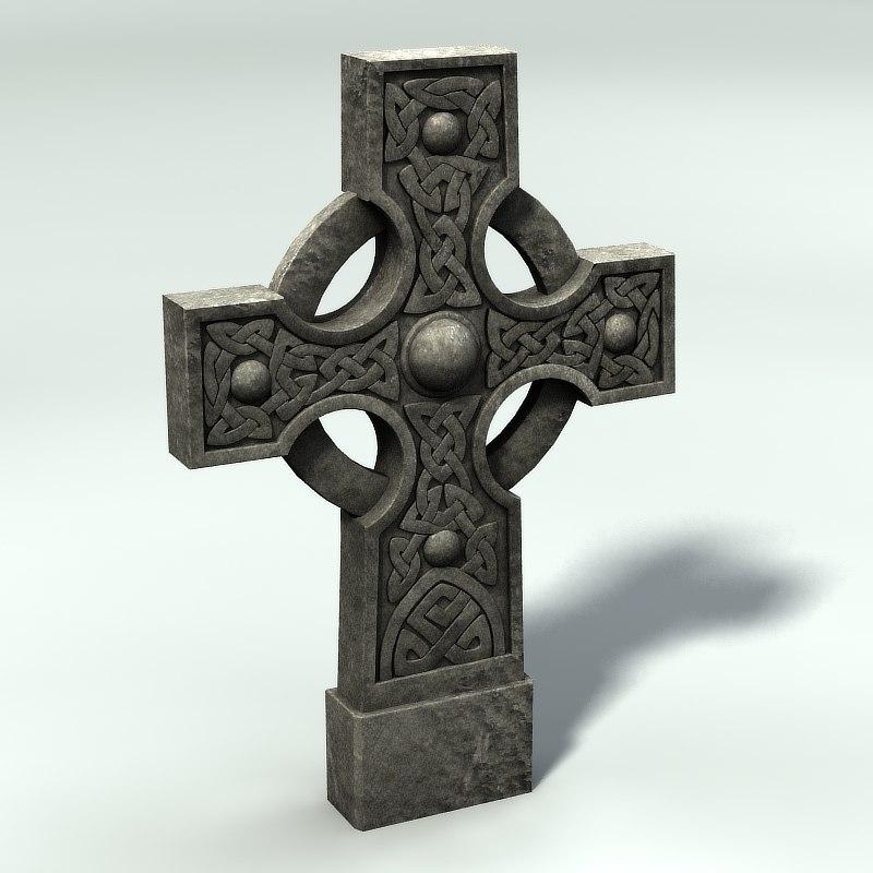 3ds max celtic gravestone