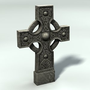3ds max celtic gravestone