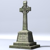 celtic gravestone 3d 3ds