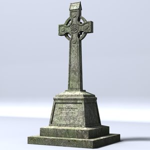 celtic gravestone 3d 3ds