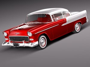 3d model chevrolet bel air 1955