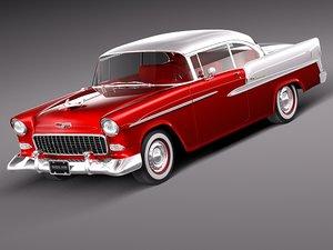 3d model chevrolet bel air 1955