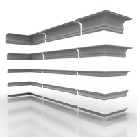 3d model of decorate cornice