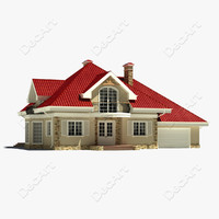 suburban cottage 3d model