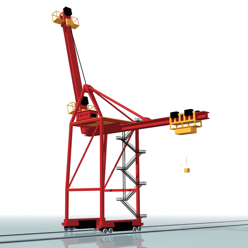 crane dockside 3d model