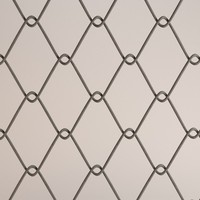 fence chain link 3d 3ds