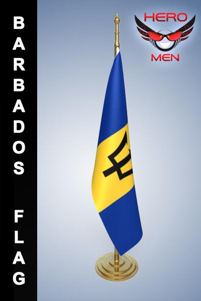 barbados flag 3ds