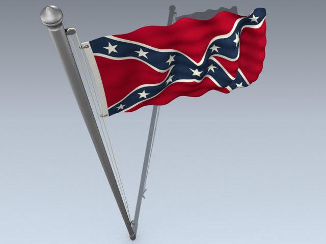 flag confederate 3d model