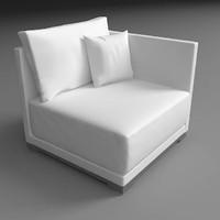 flow sofa 3d model