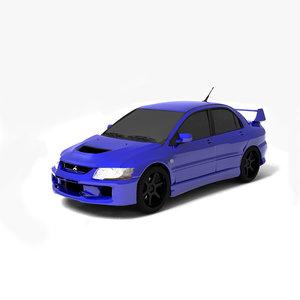 mitsubishi lancer 3d model