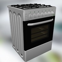 stove oven 3d model
