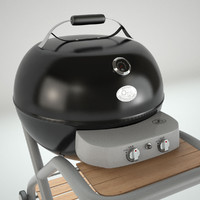 3d model grill v-ray kettle