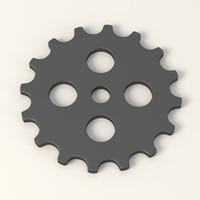 3d gear wheel