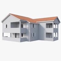 mediterranean house 3d model