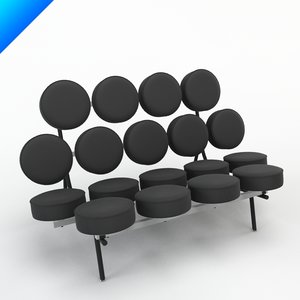 3d nelson marshmallow sofa design model