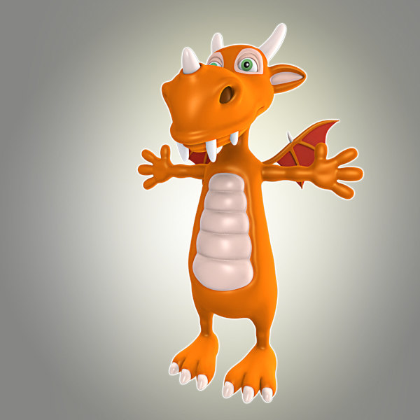 3d obj cool dragon
