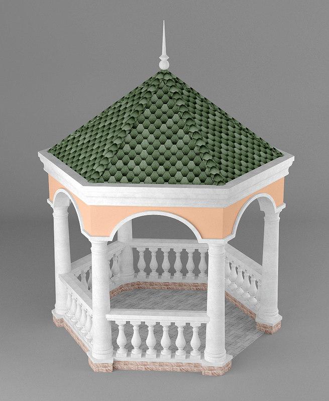3d model gazebo garden