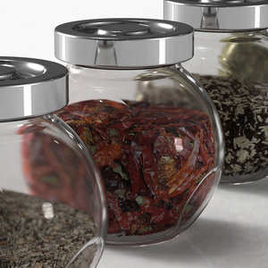 3d spice jar 12 different model