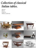 3d model classical tables