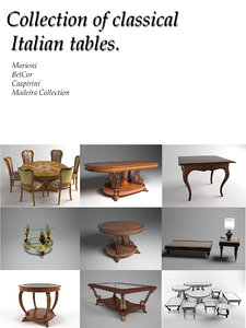 3d model classical tables
