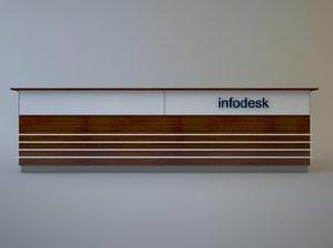 information desk 3d max
