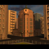cityscape buildings 3d model