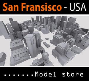 city buildings san francisco 3d model
