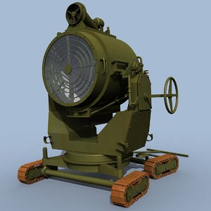 3dsmax british 90cm searchlight