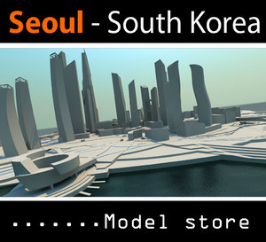 seoul buildings 3d model