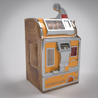 slot machine 3d obj