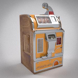 slot machine 3d obj