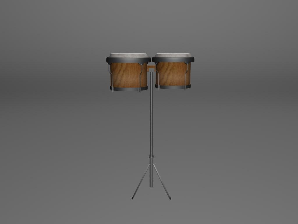3ds max bongos instrument