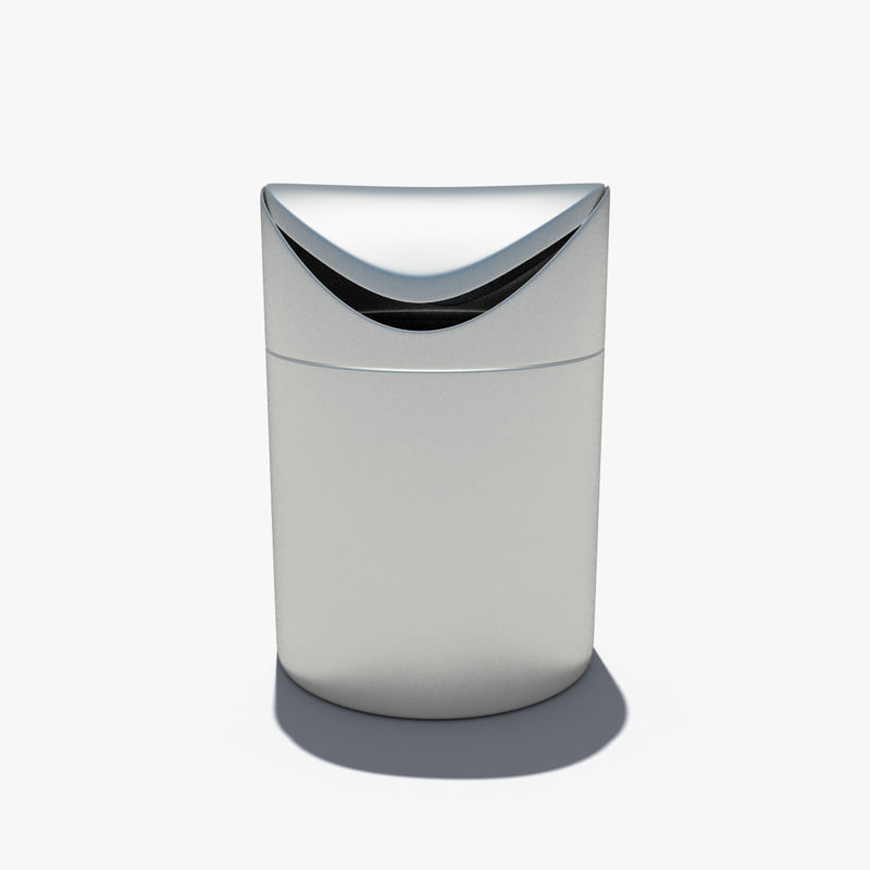 3d model of table trashcan