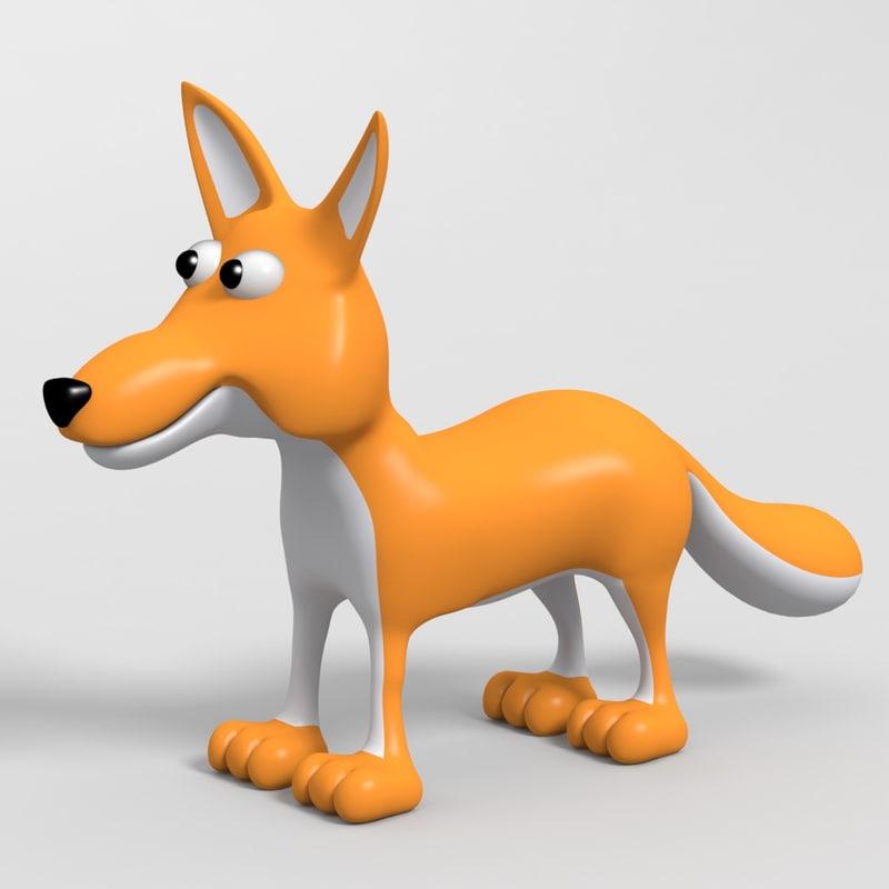 3d fox toon model