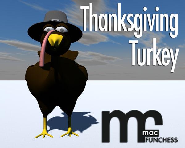 3ds max turkey thanksgiving