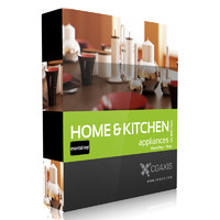 CGAxis Models Volume 20 Home & Kitchen Appliances MentalRay